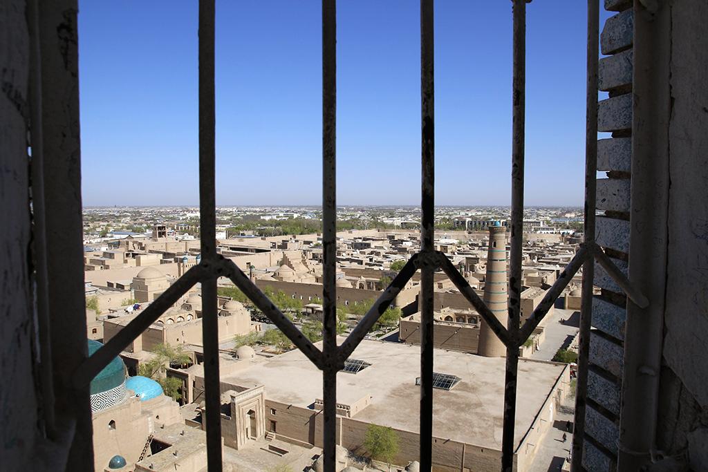 Verja del minarete Islam Khoja de Khiva