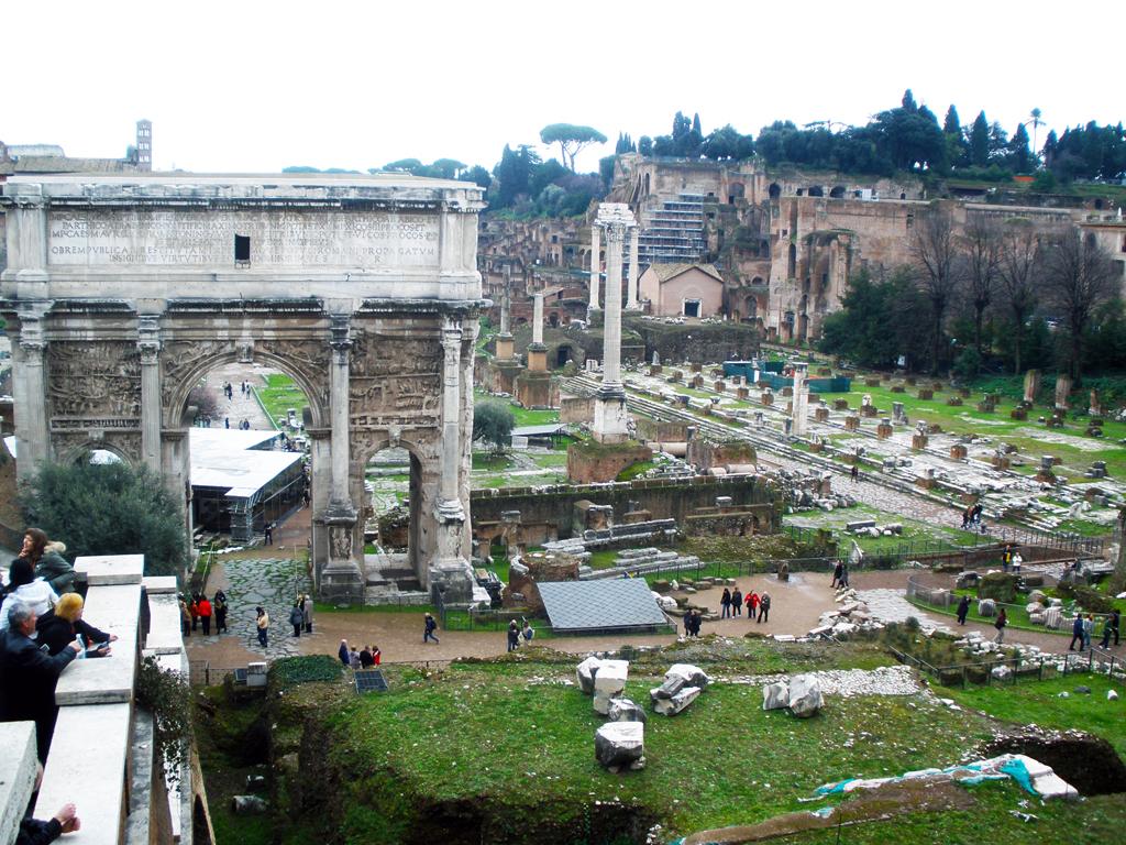 Vista general del foro romano