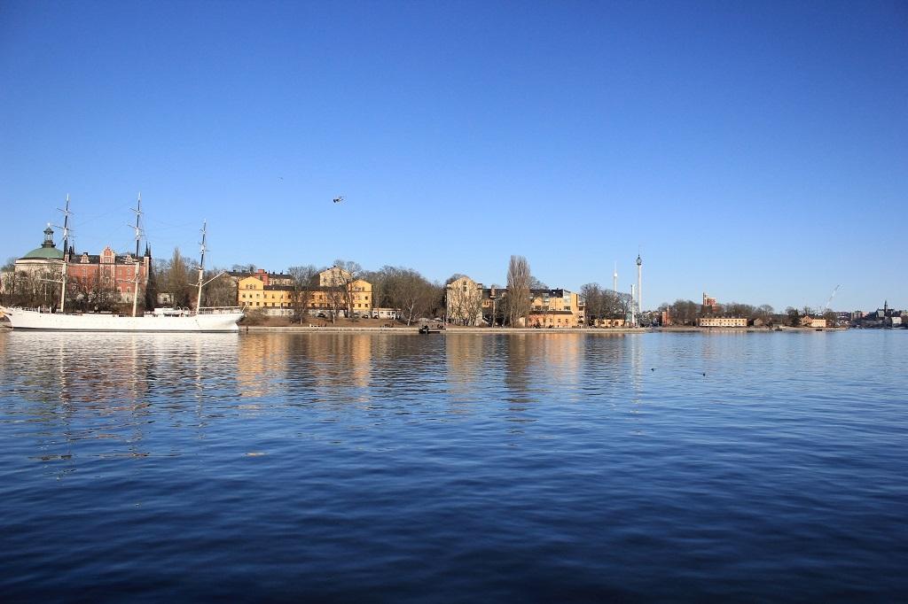 Vistas barcos en Estocolmo
