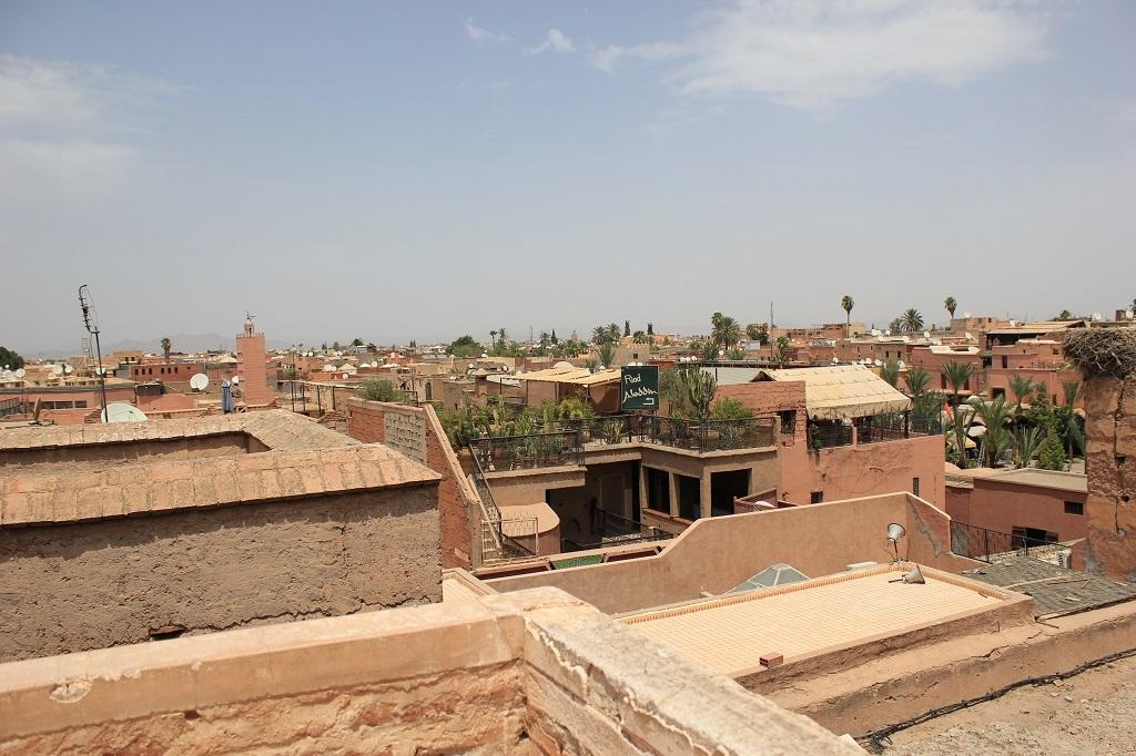 Vistas desde el Palacio Badi a Marrakech