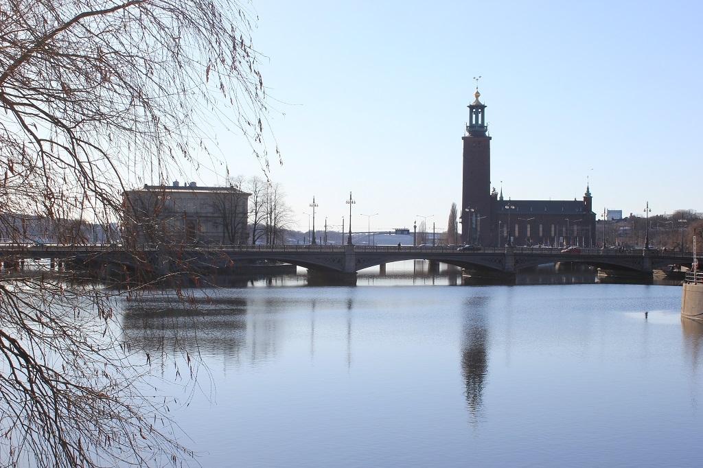Vistas desde la Gamla Stan en Estocolmo