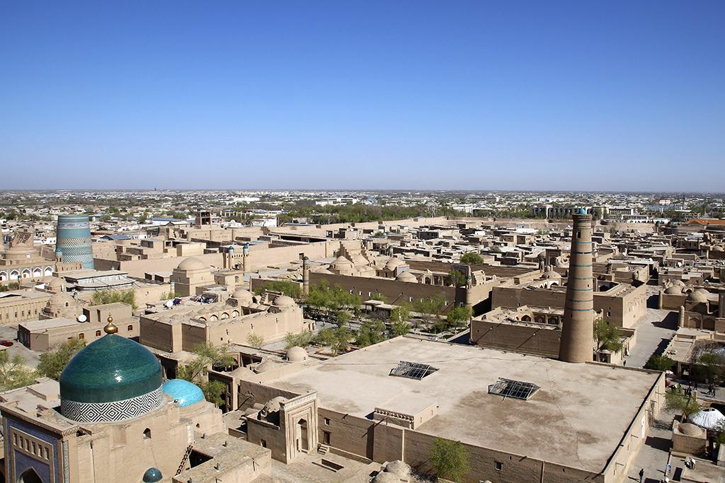 Vistas hacia el noroeste de Khiva - Uzbekistan