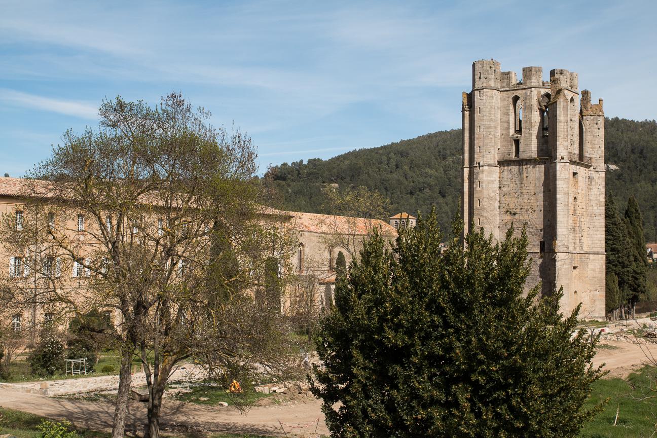 Abadia de Lagrasse vista desde lo alto