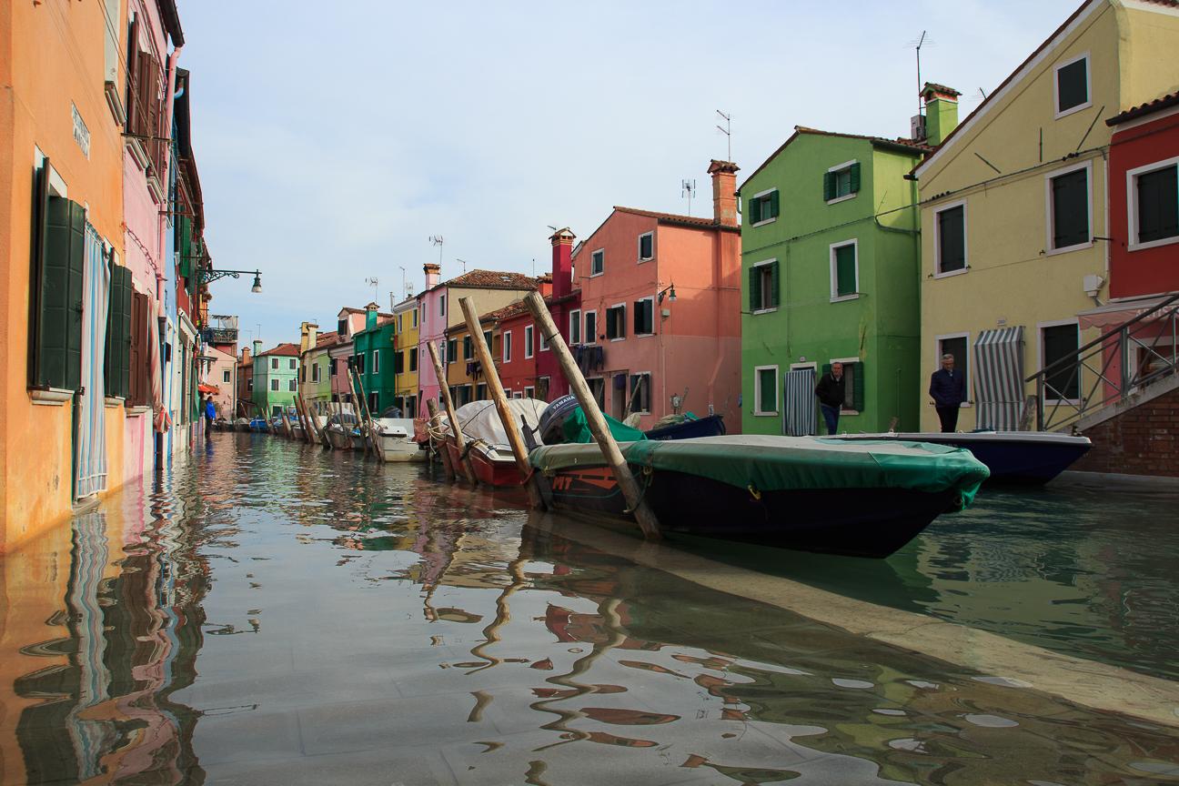 Acqua alta en Burano