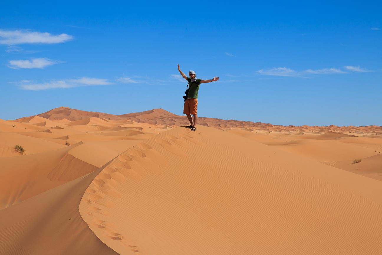 Aitor en el desierto de Merzouga