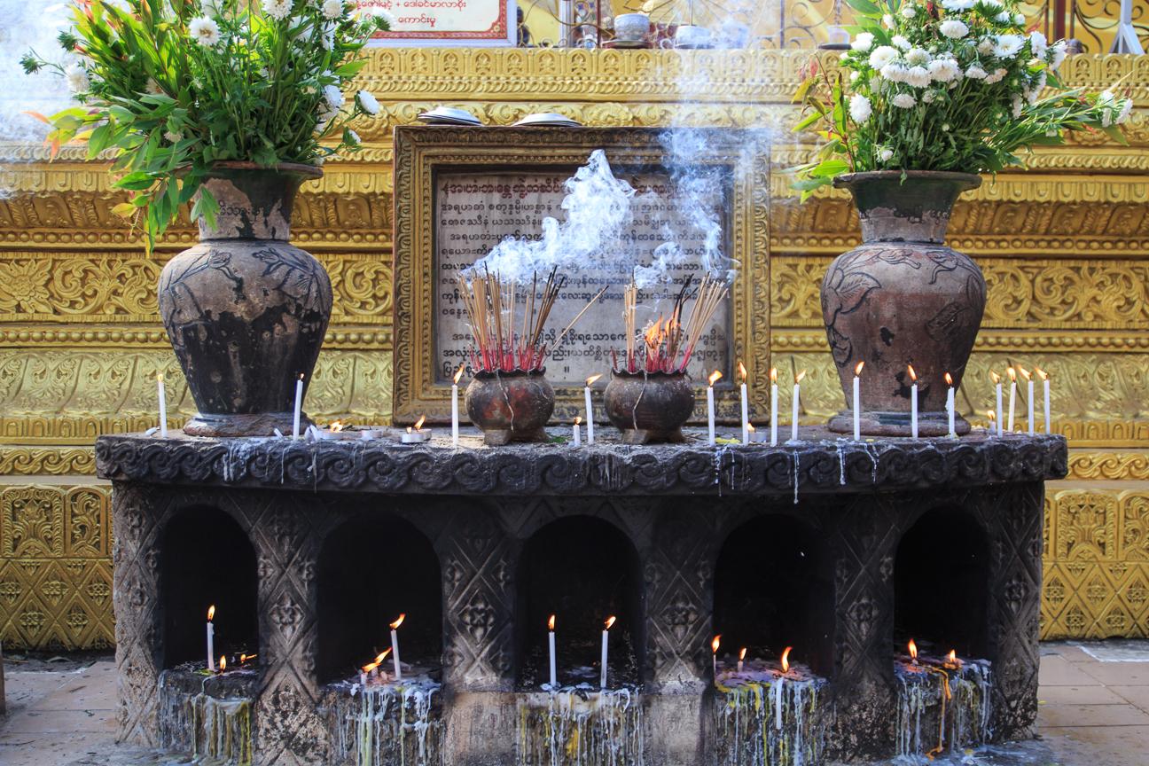 Altar en Laymyatnar Myanmar