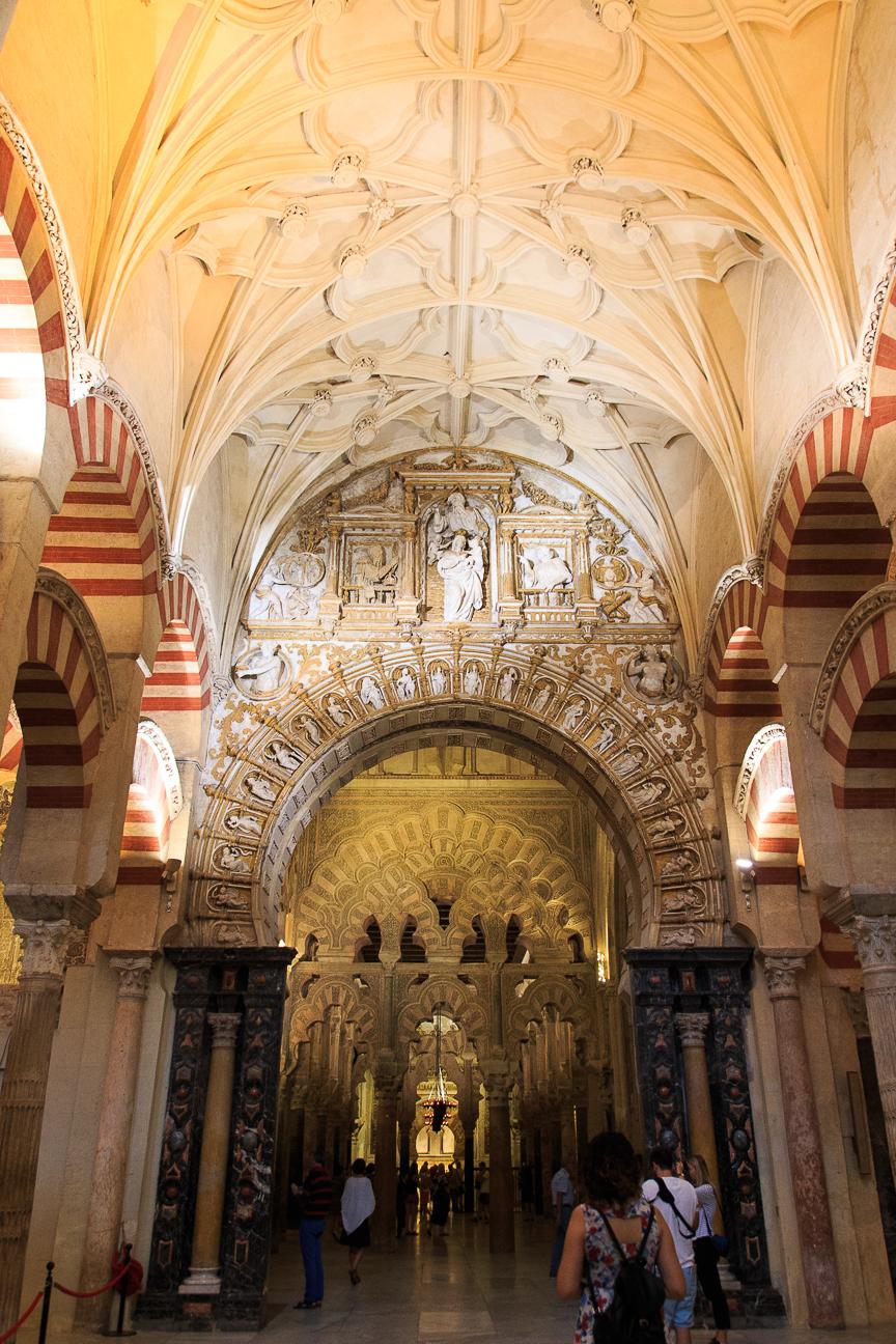 Arcadas cristianas de la mezquita catedral de Cordoba