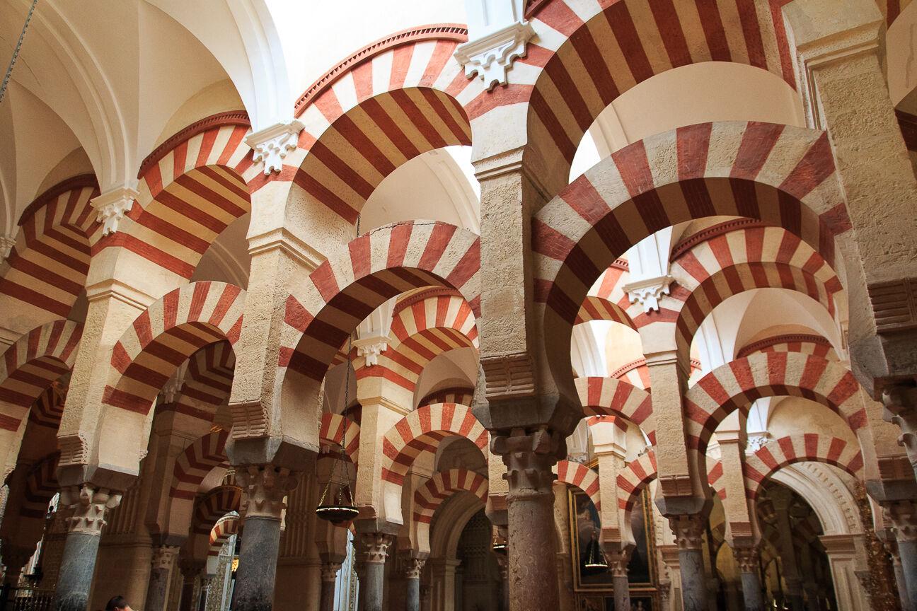 Arcadas dobles de la mezquita de Cordoba