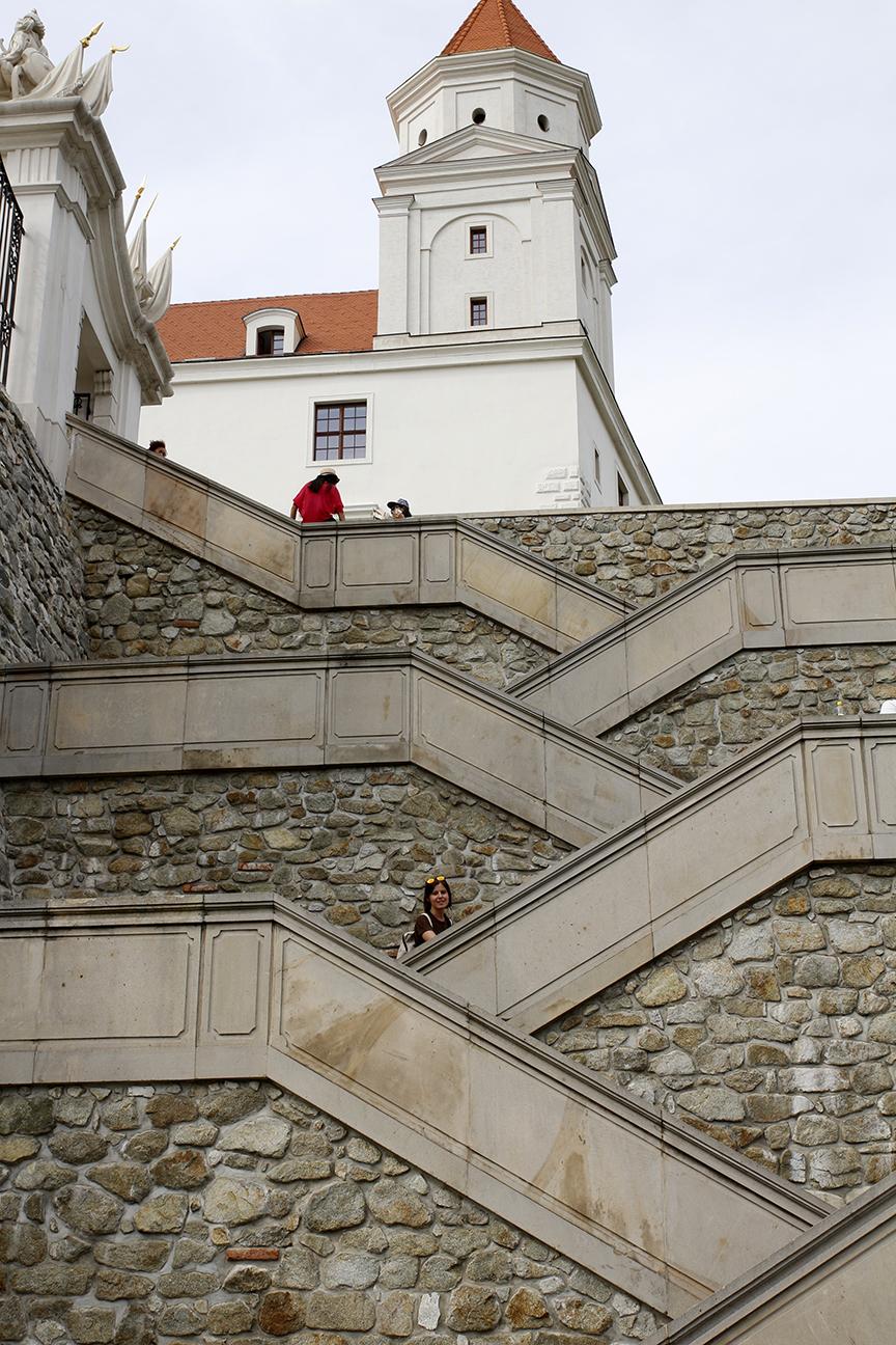Ascension al castillo de Bratislava