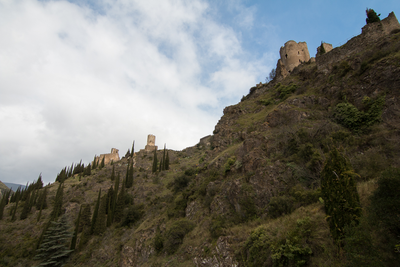 Ascension final a los castillos de Lastours