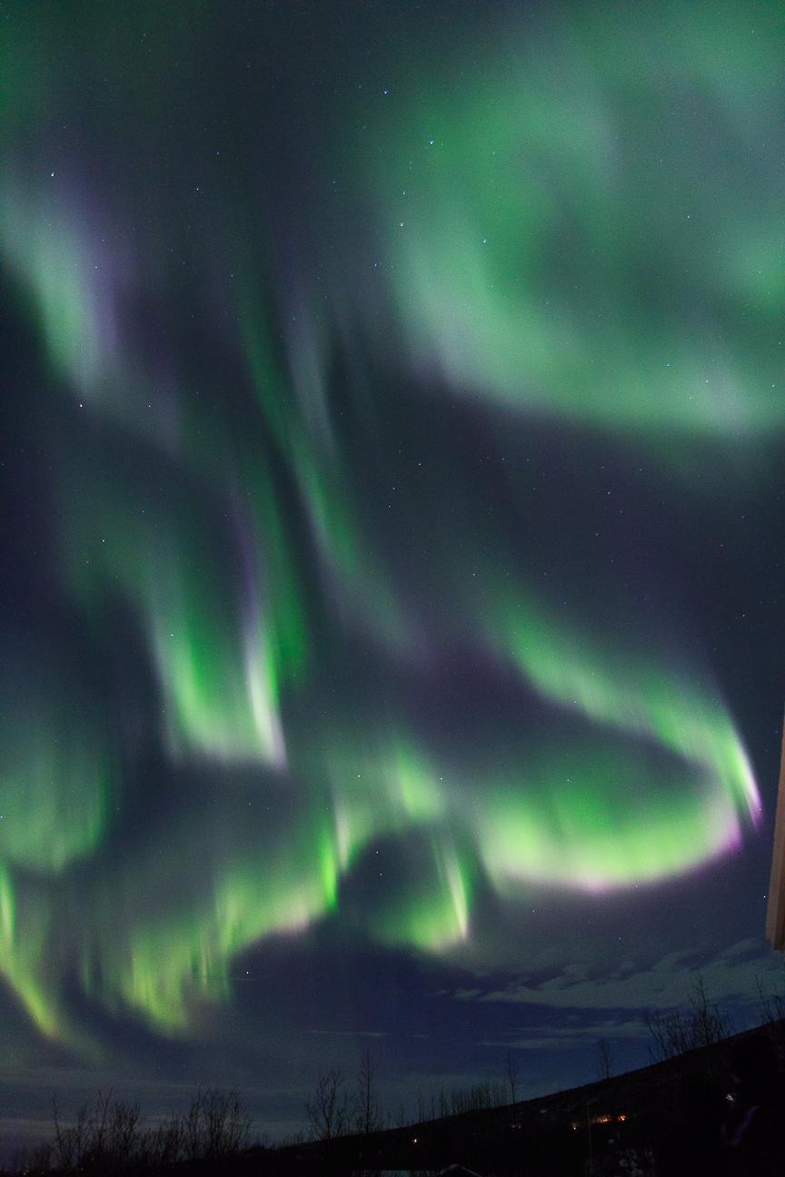 Auroras boreales bailando