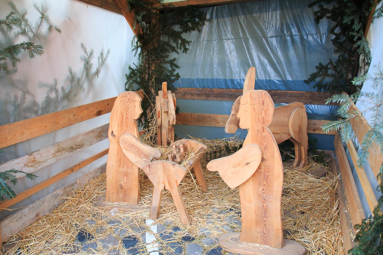 Pesebre de madera en Alsacia