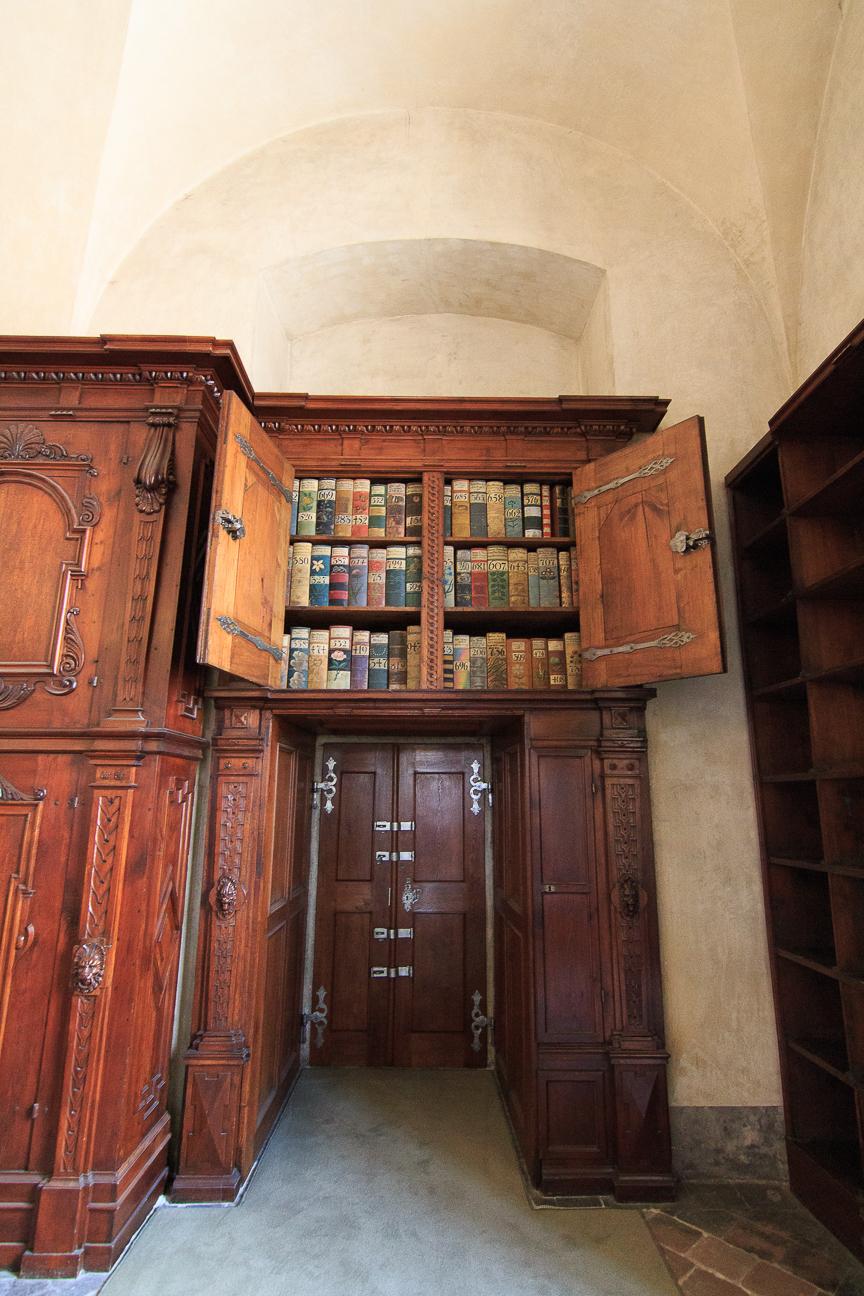 Biblioteca dentro del Palacio Real del Castillo de Praga