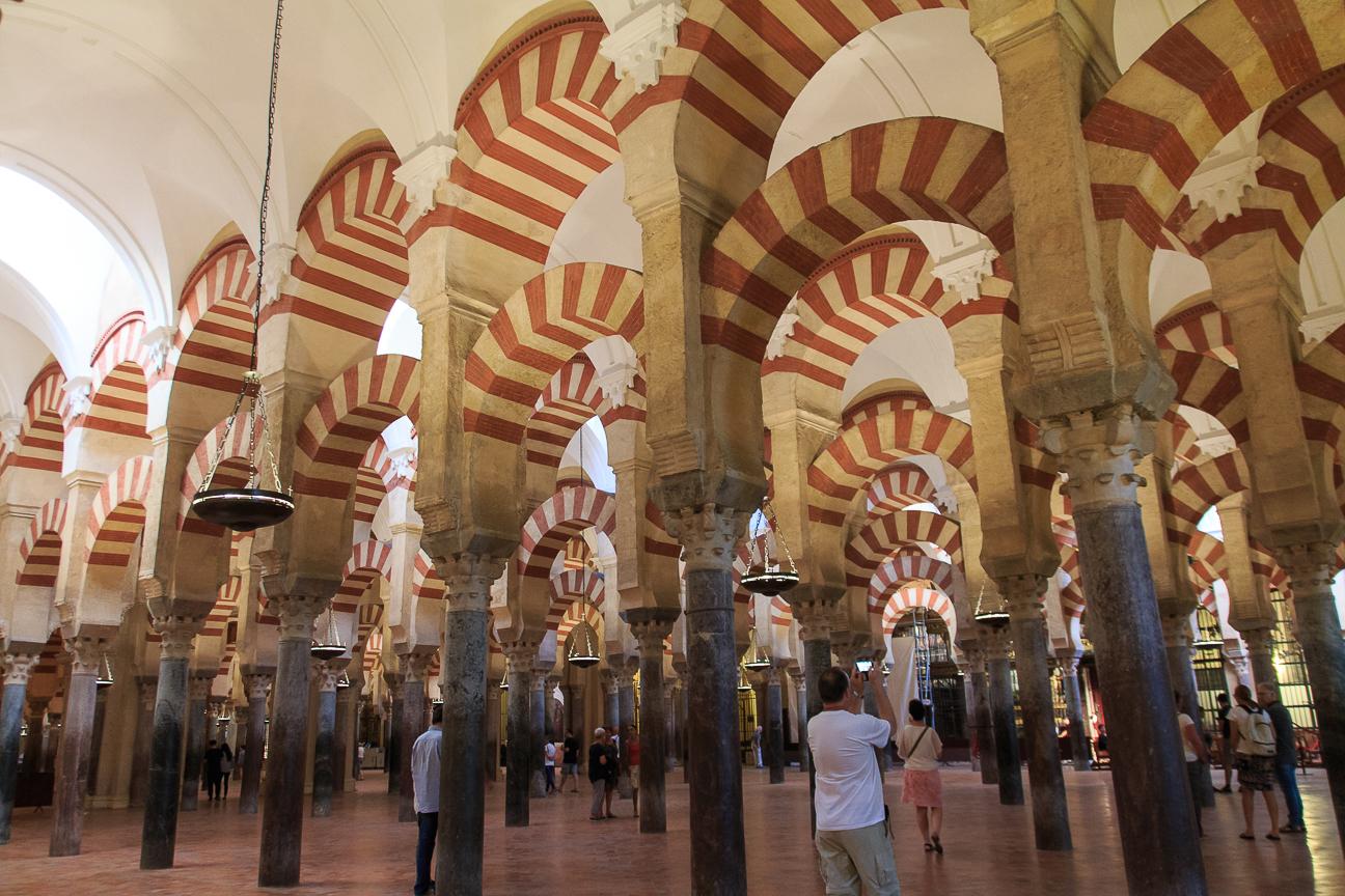 Bosque de columnas de la mezquita catedral de Cordoba