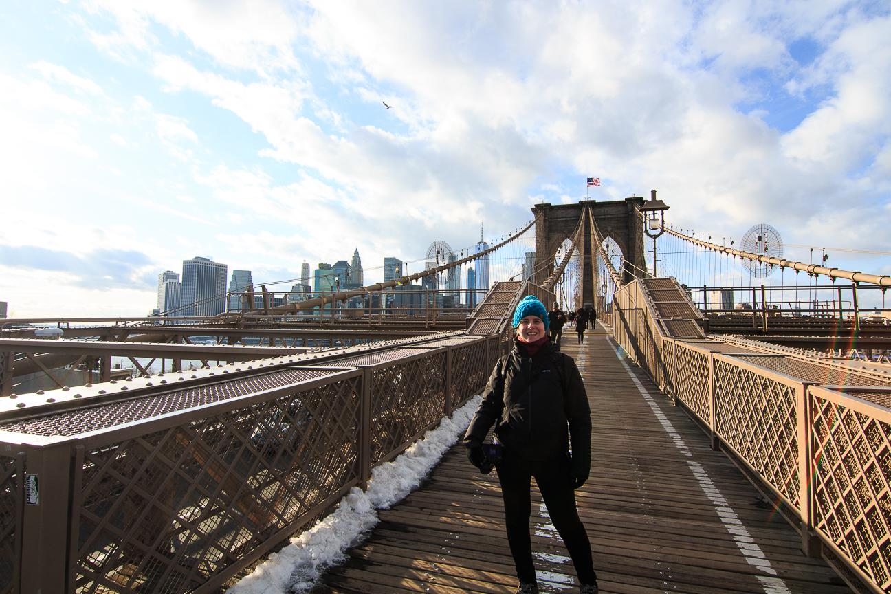Brooklyn bridge Nueva York en invierno