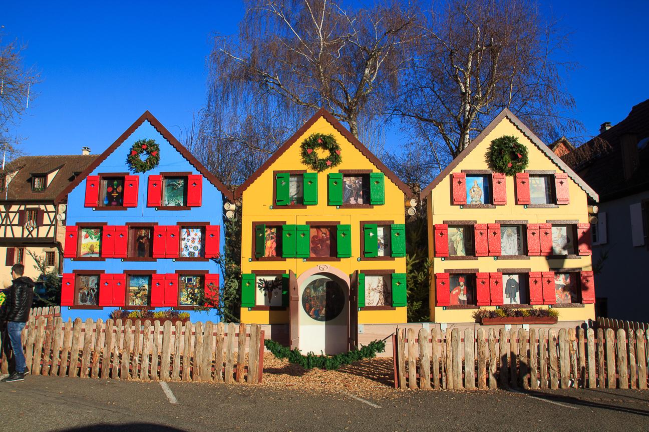 Calendario de adviento en Turkheim, Pueblo de Alsacia