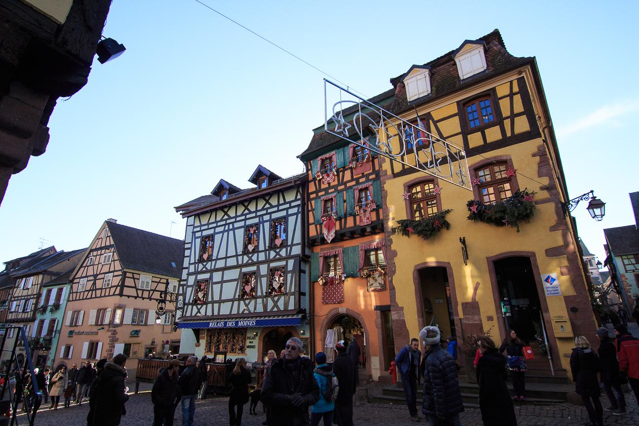 pueblo de Alsacia: Riquewihr, Francia
