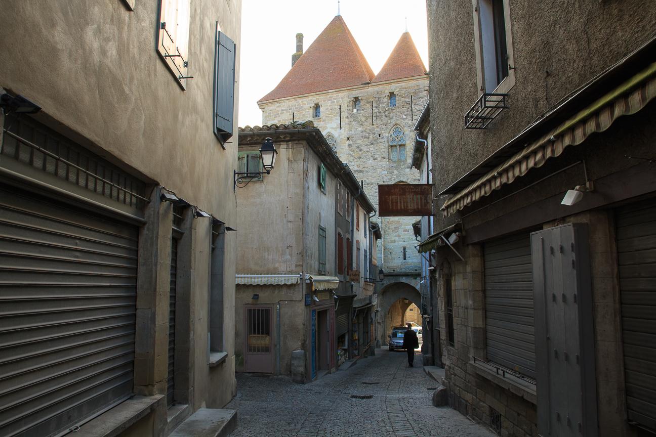 Calles empedradas de Carcassonne