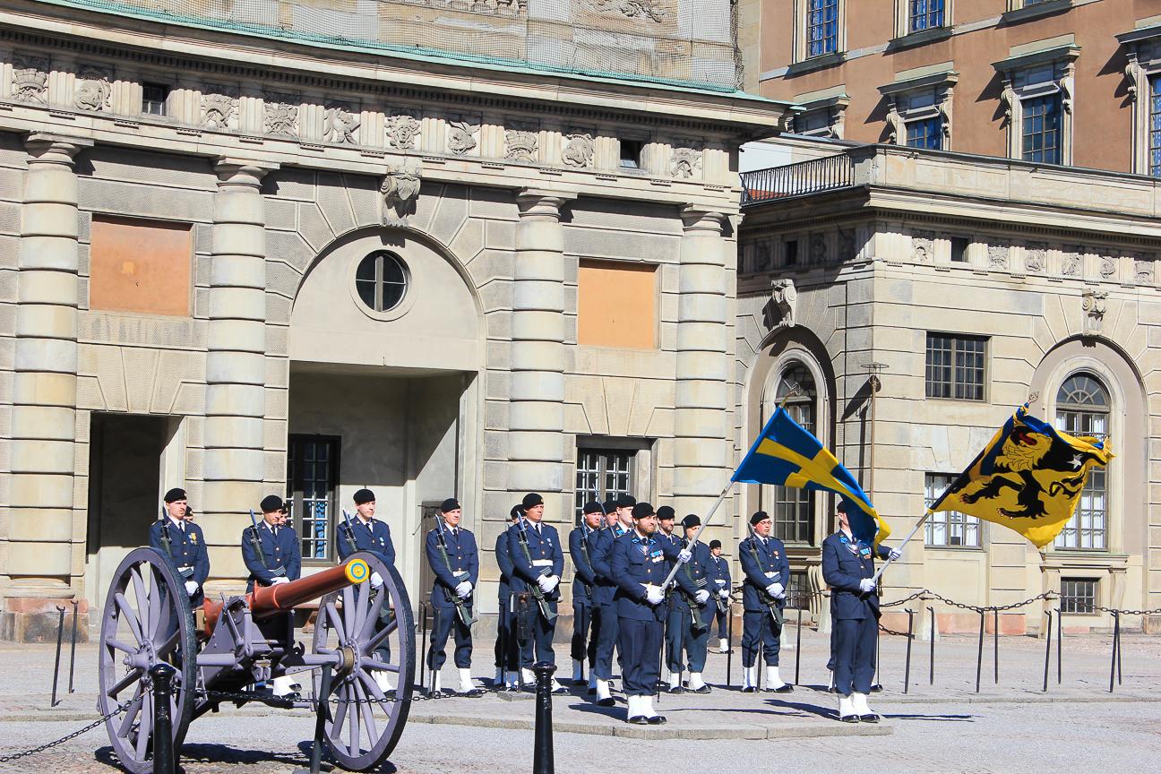 Cambio de guardia Palacio Real de Estocolmo
