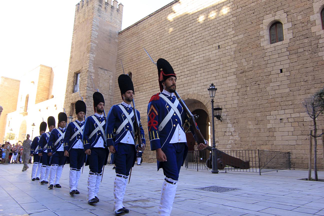 Cambio de guardia en la Almudaina