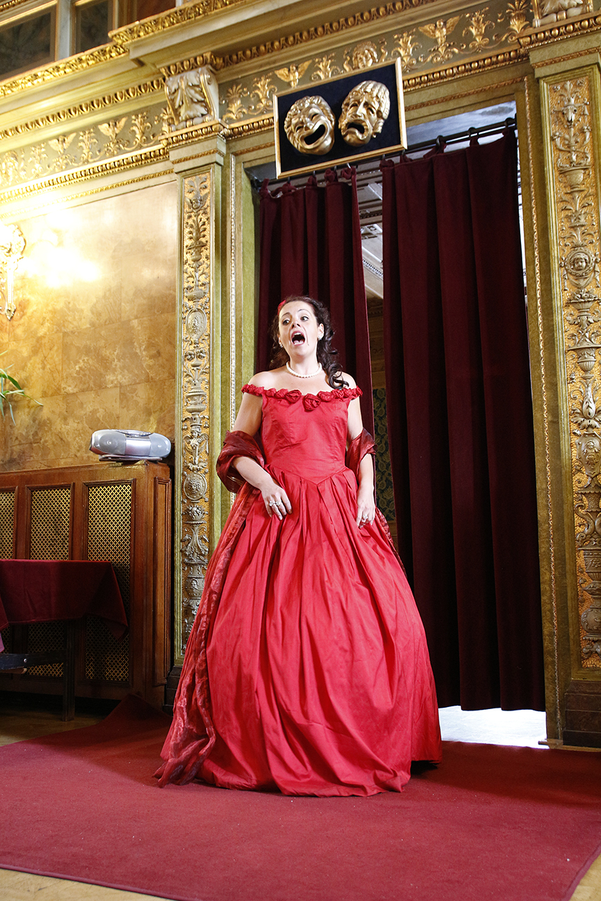 Cantante en la Opera de Budapest
