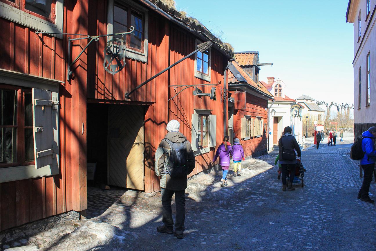 Casas antiguas en Skansen Estocolmo