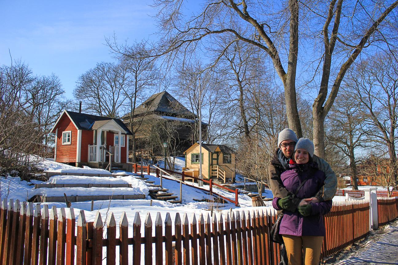 Casas tipicas en el Museo Skansen