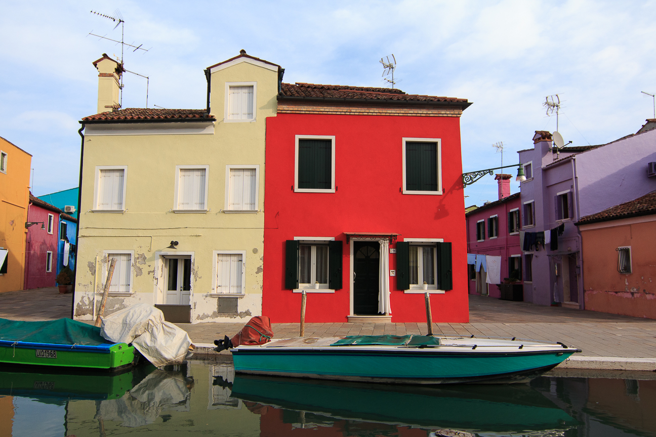 Casas de colores en Burano - Italia