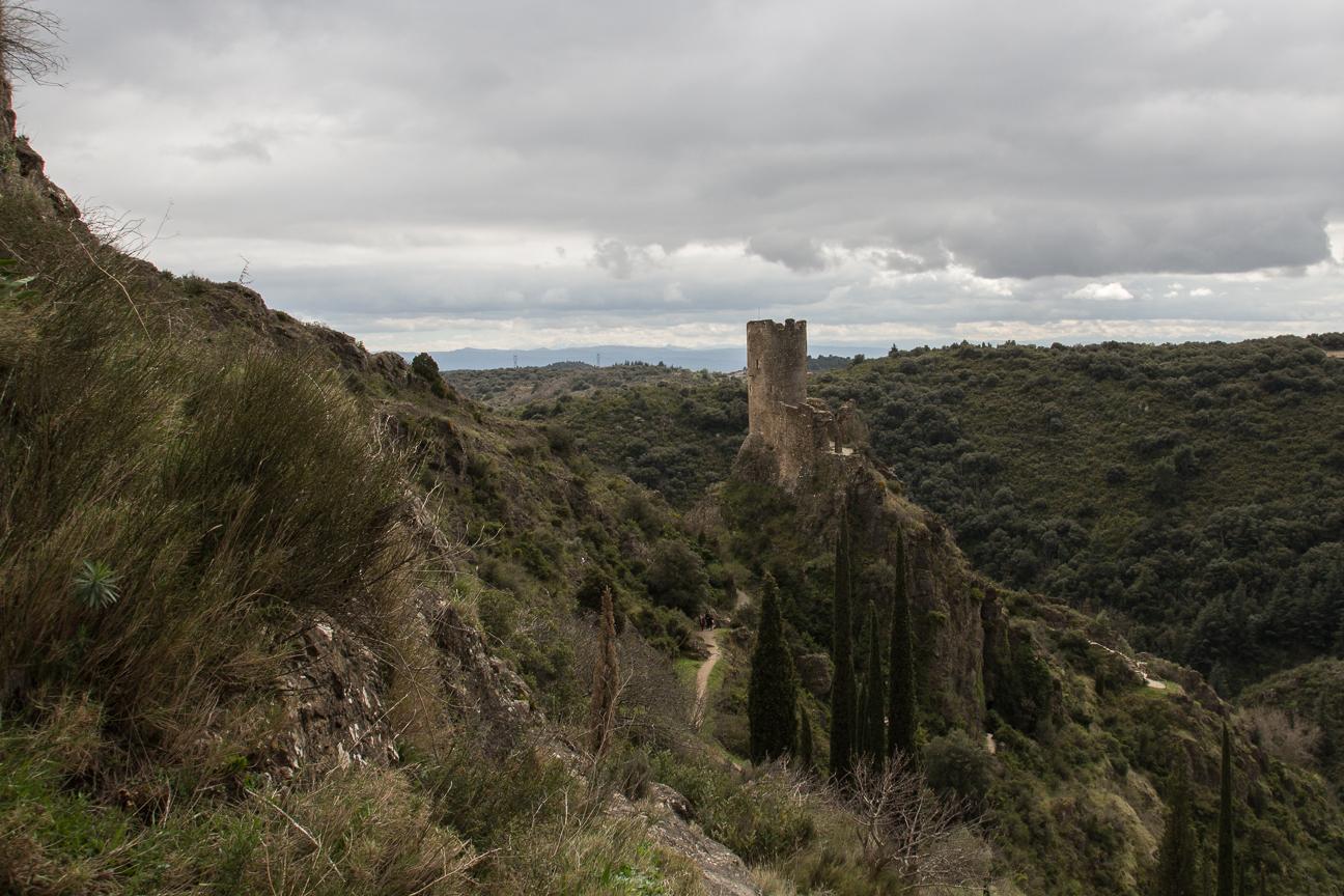 Castillo de Cabaret en Lastours