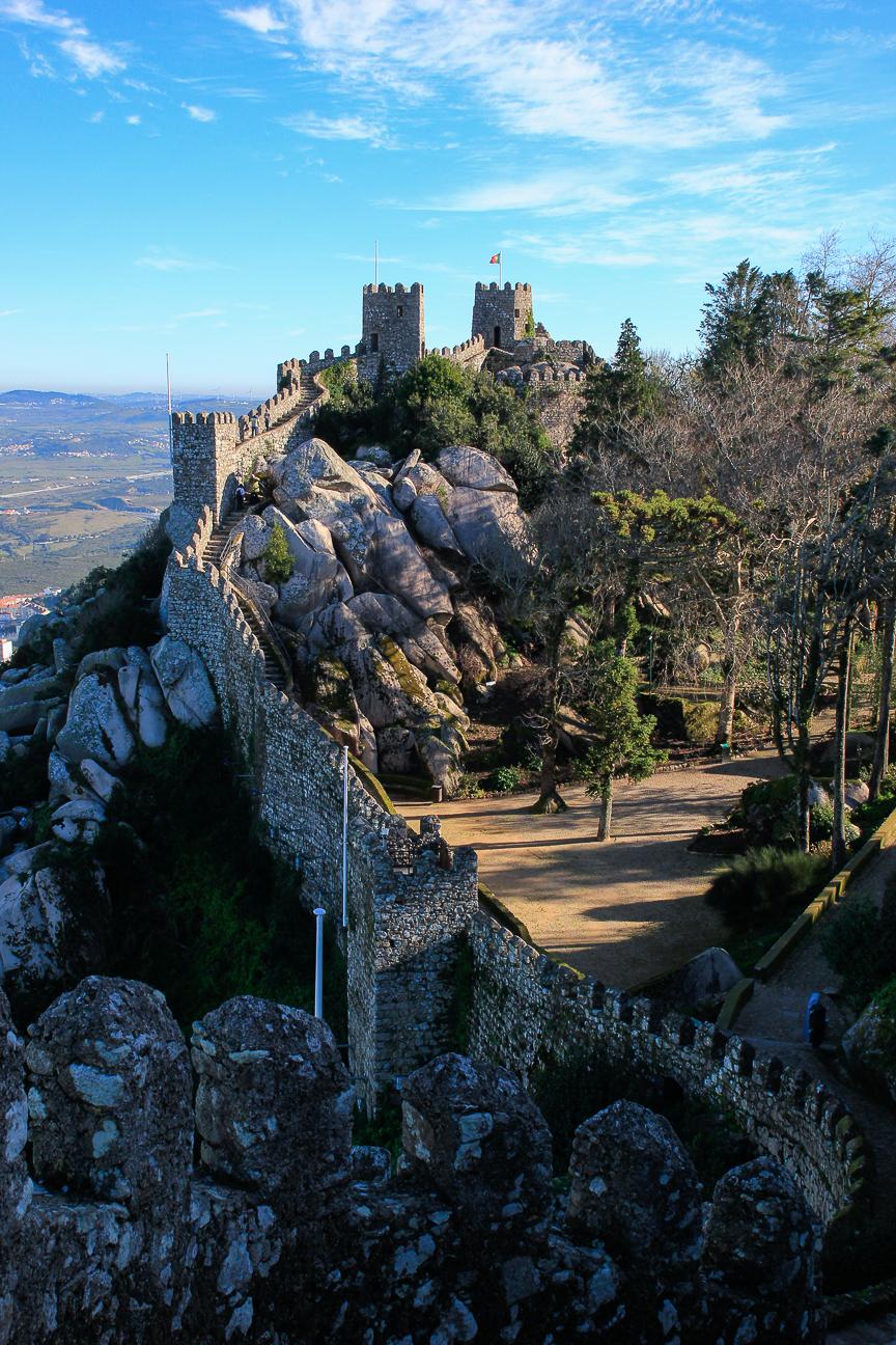 Castillo dos moros en Sintra