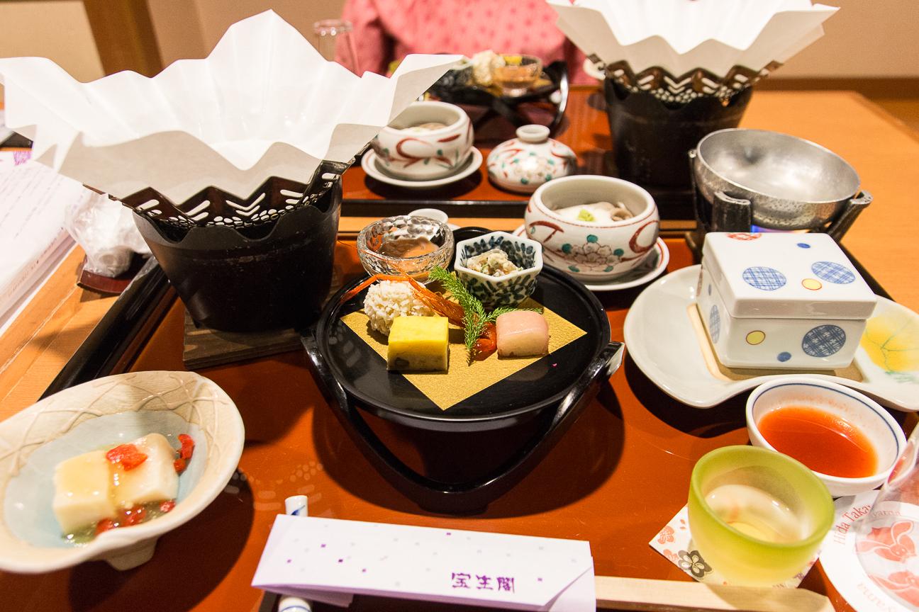 Cena excelente en el Ryokan Hoshokaku
