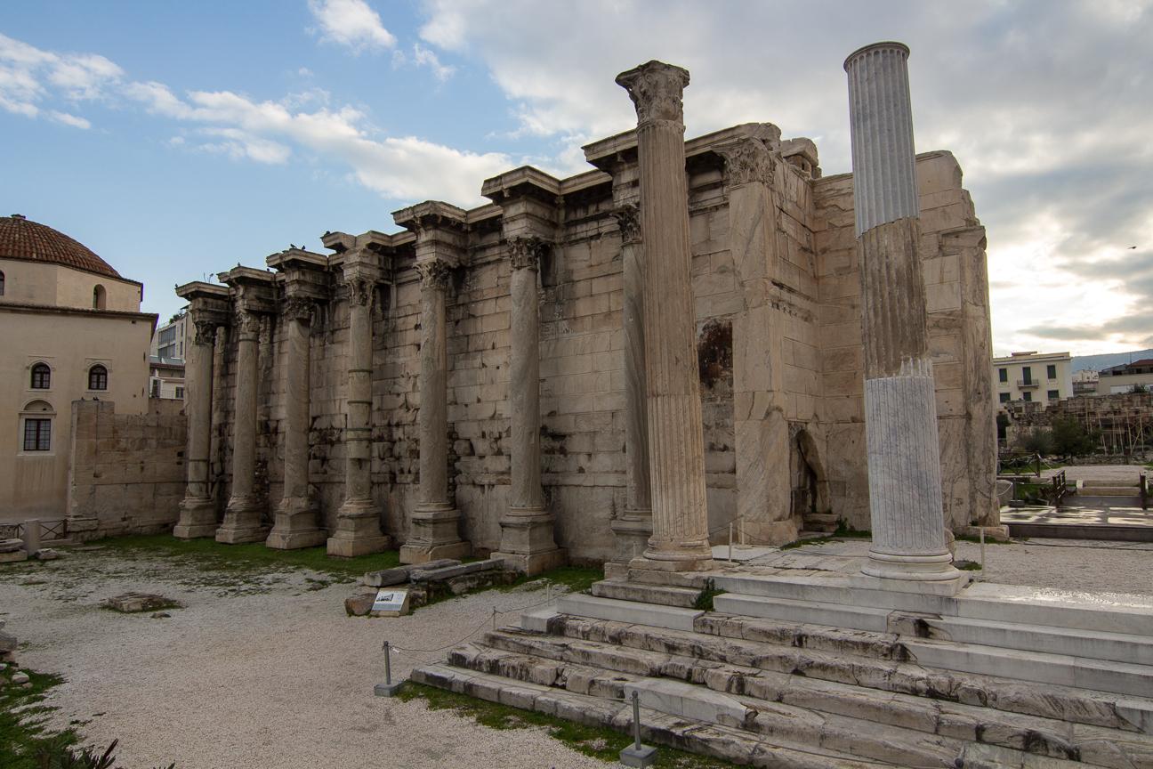 Columnas de la biblioteca de Adriano