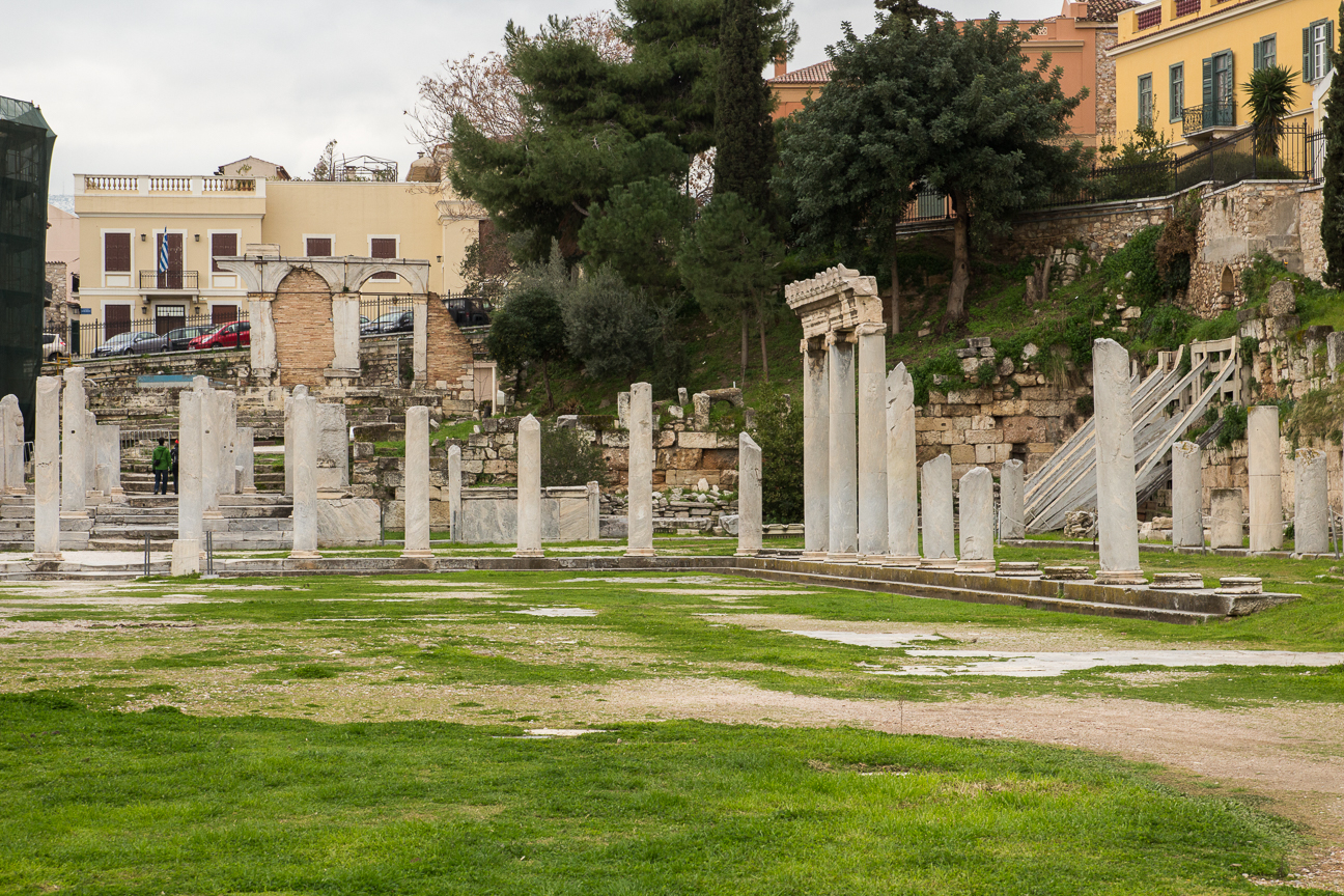 Columnas del ágora romana
