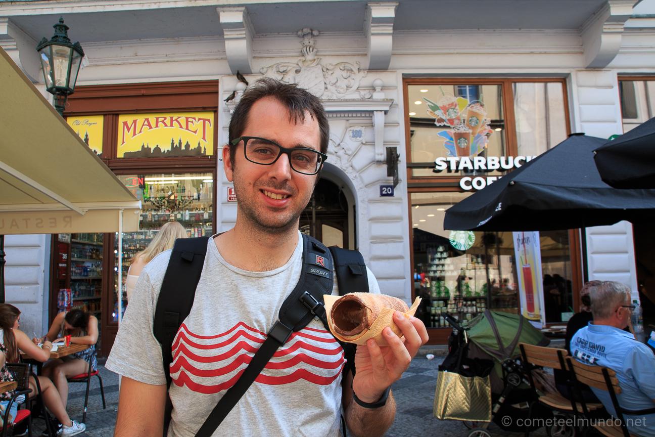Comer barato en Praga - Trdelnik