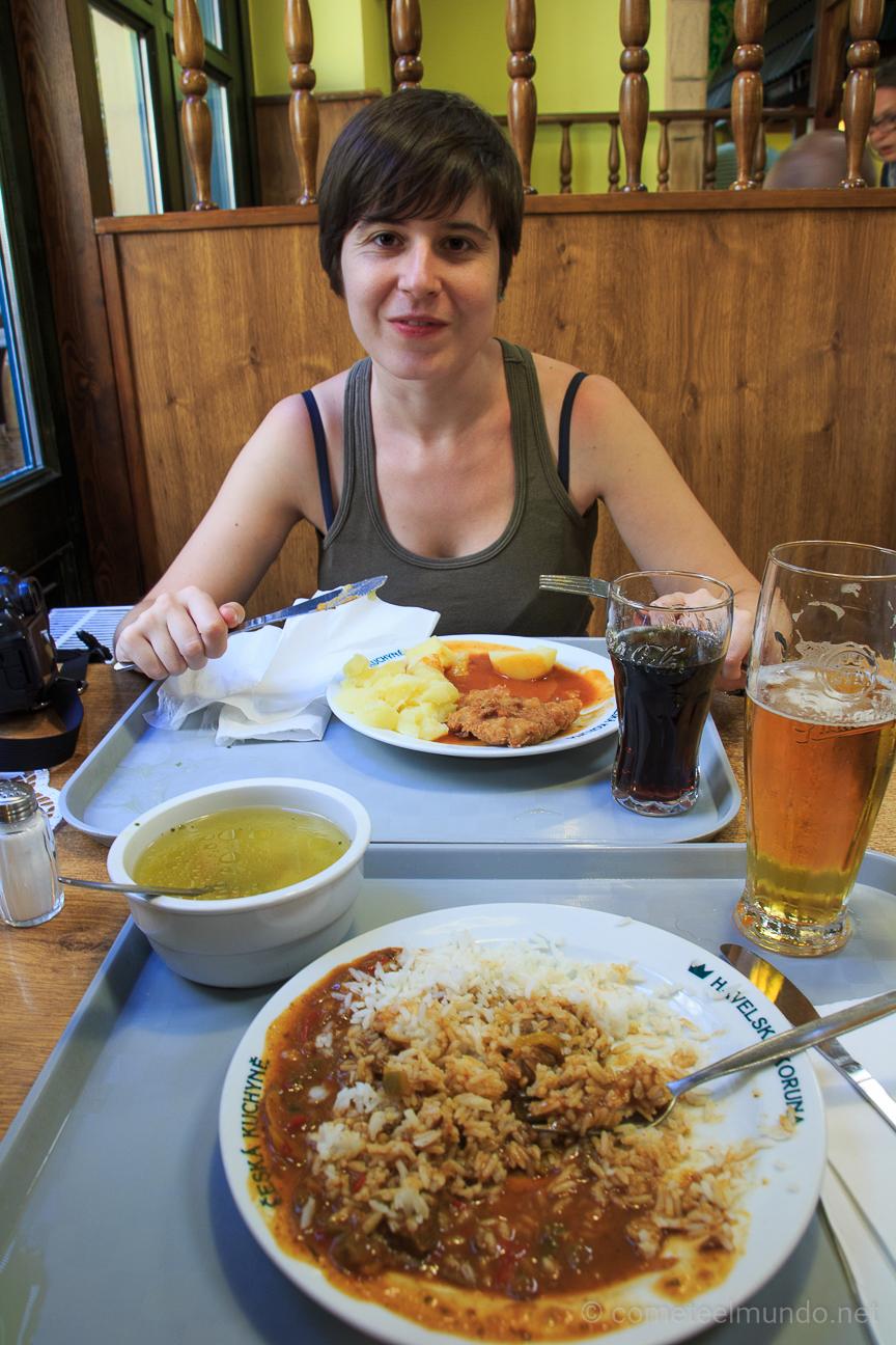 Comer barato en Praga