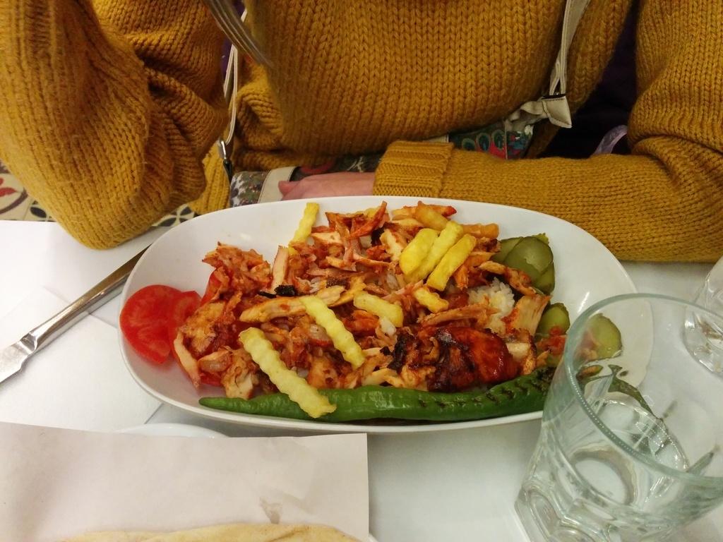 Kebab de pollo en turquia