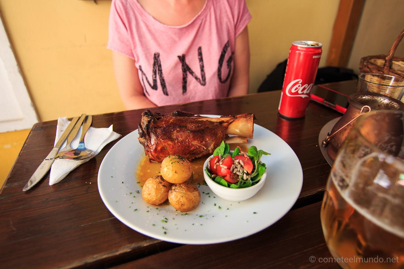 Comida tipica de Praga - Knuckle