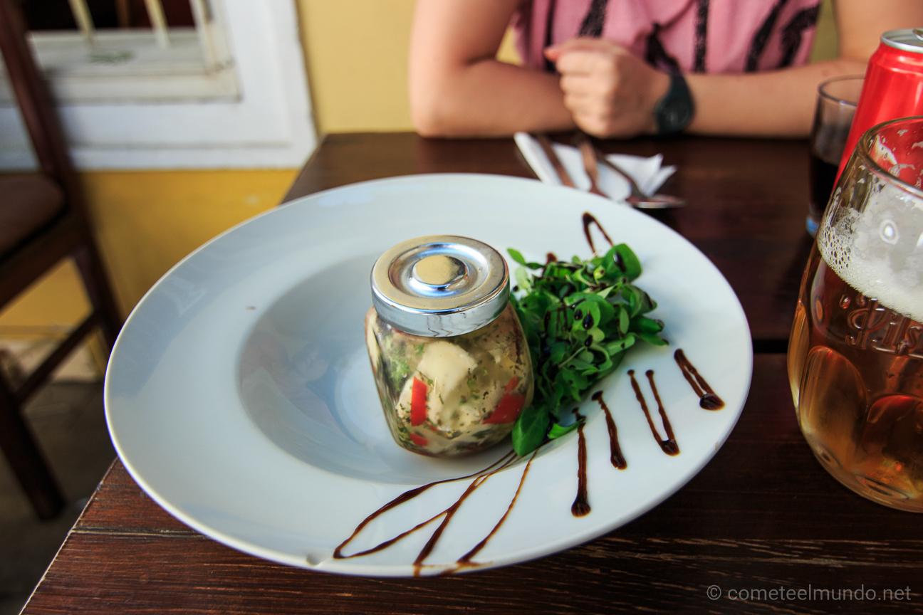 Comida tipica en Praga - Queso en aceite