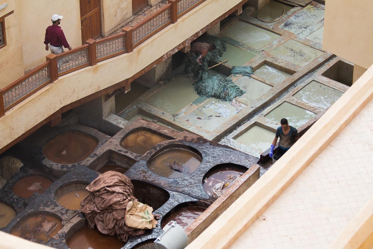 Curtidores en Fez