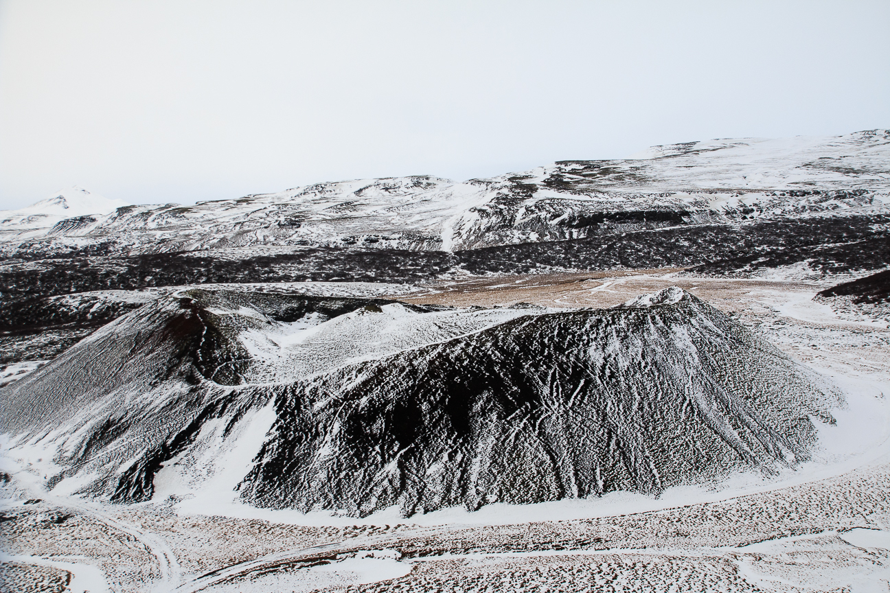Crater de volcan nevado