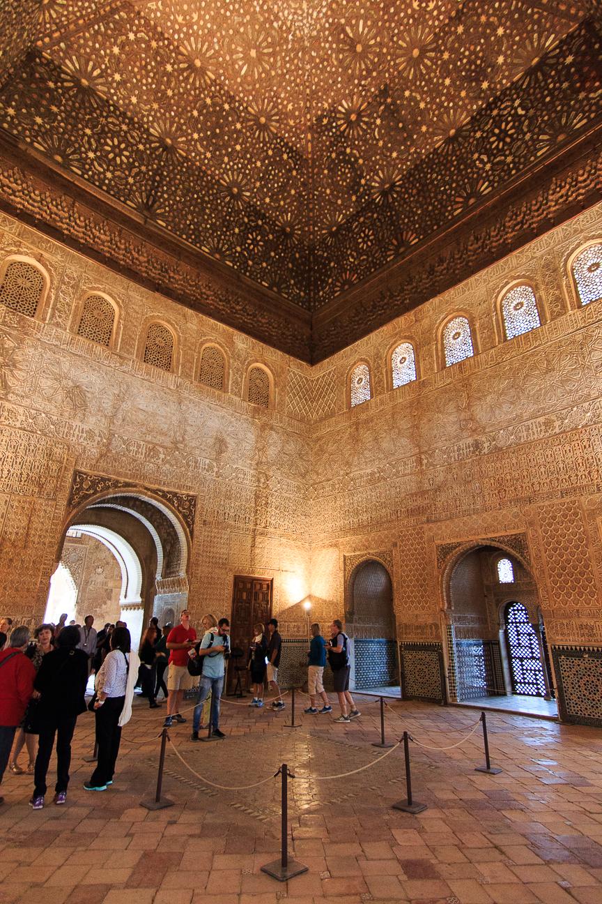 Cupula de madera en los palacios nazaries
