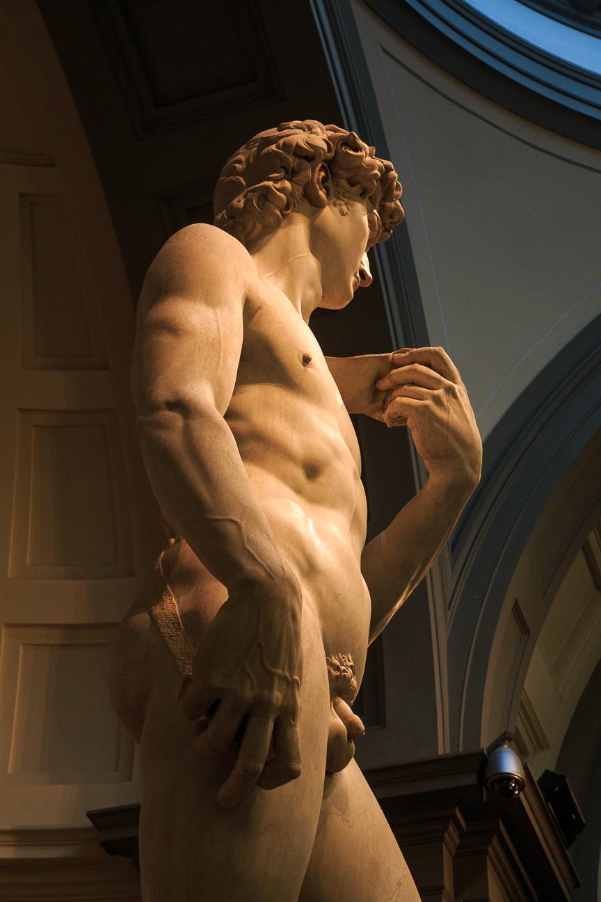 David de Miguel Angel en Florencia