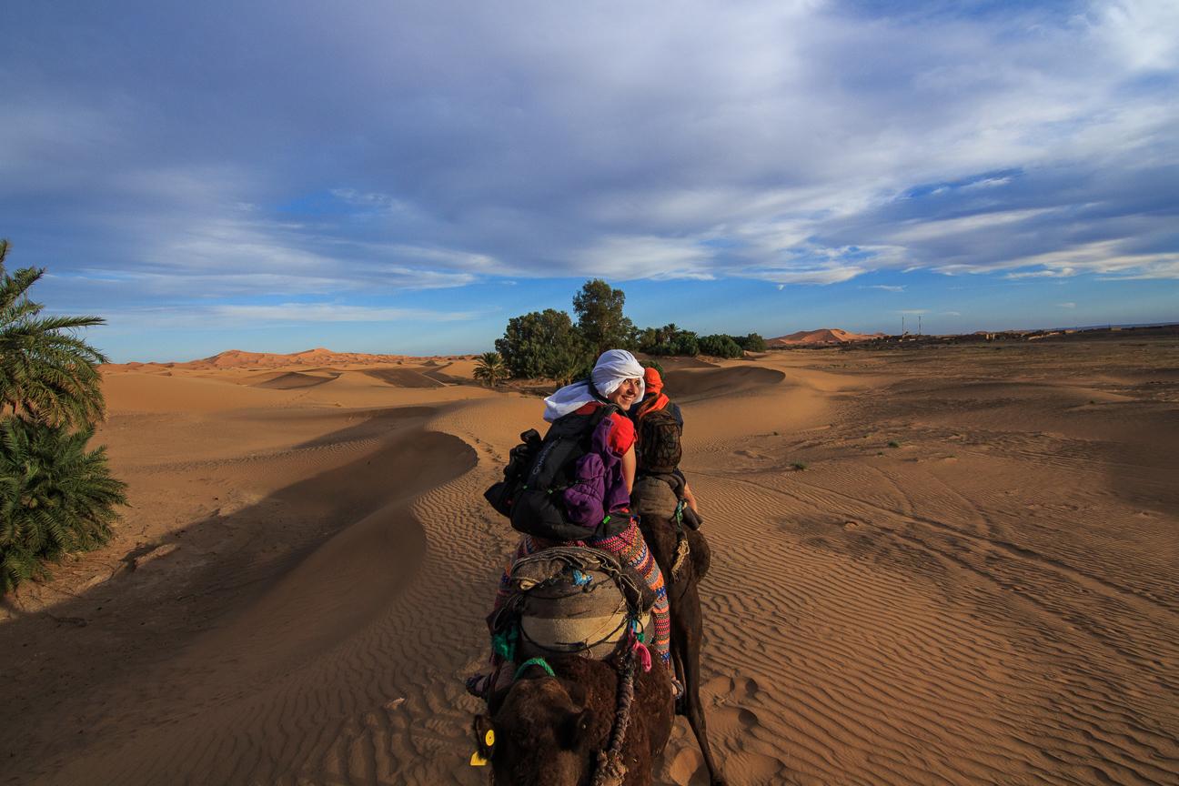 De camino al campamento en el desierto de Merzouga