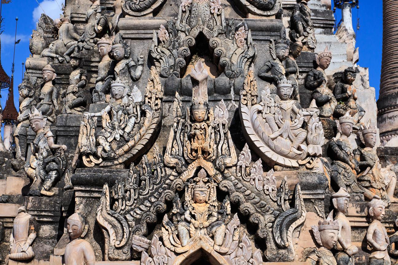 Detalle de estupa gigante