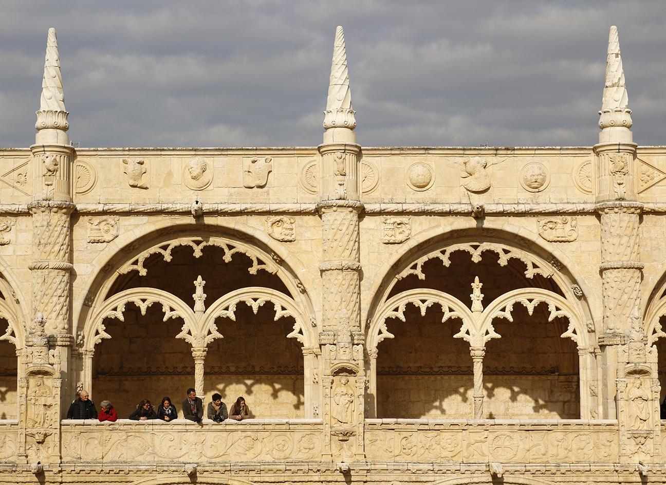 Detalle del claustro de los Jeronimos en Lisboa