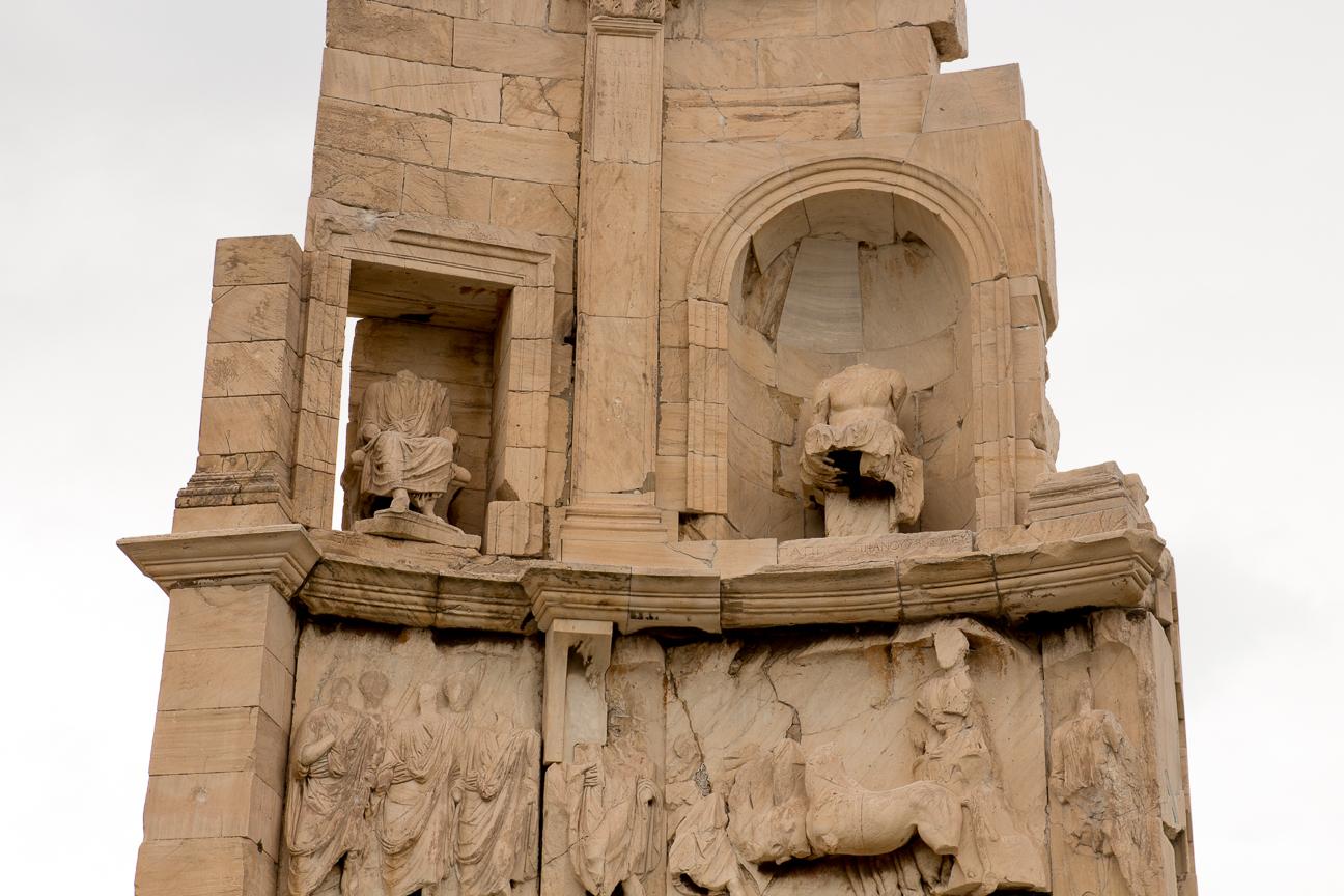 Detalle del monumento de Filopapos