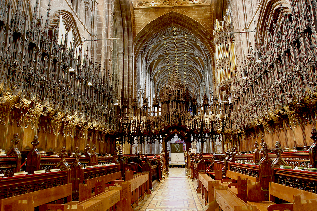 Detalle interior de la catedral de Chester