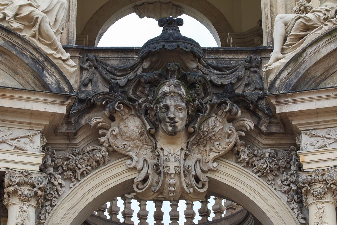Detalles del Zwinger en Dresde