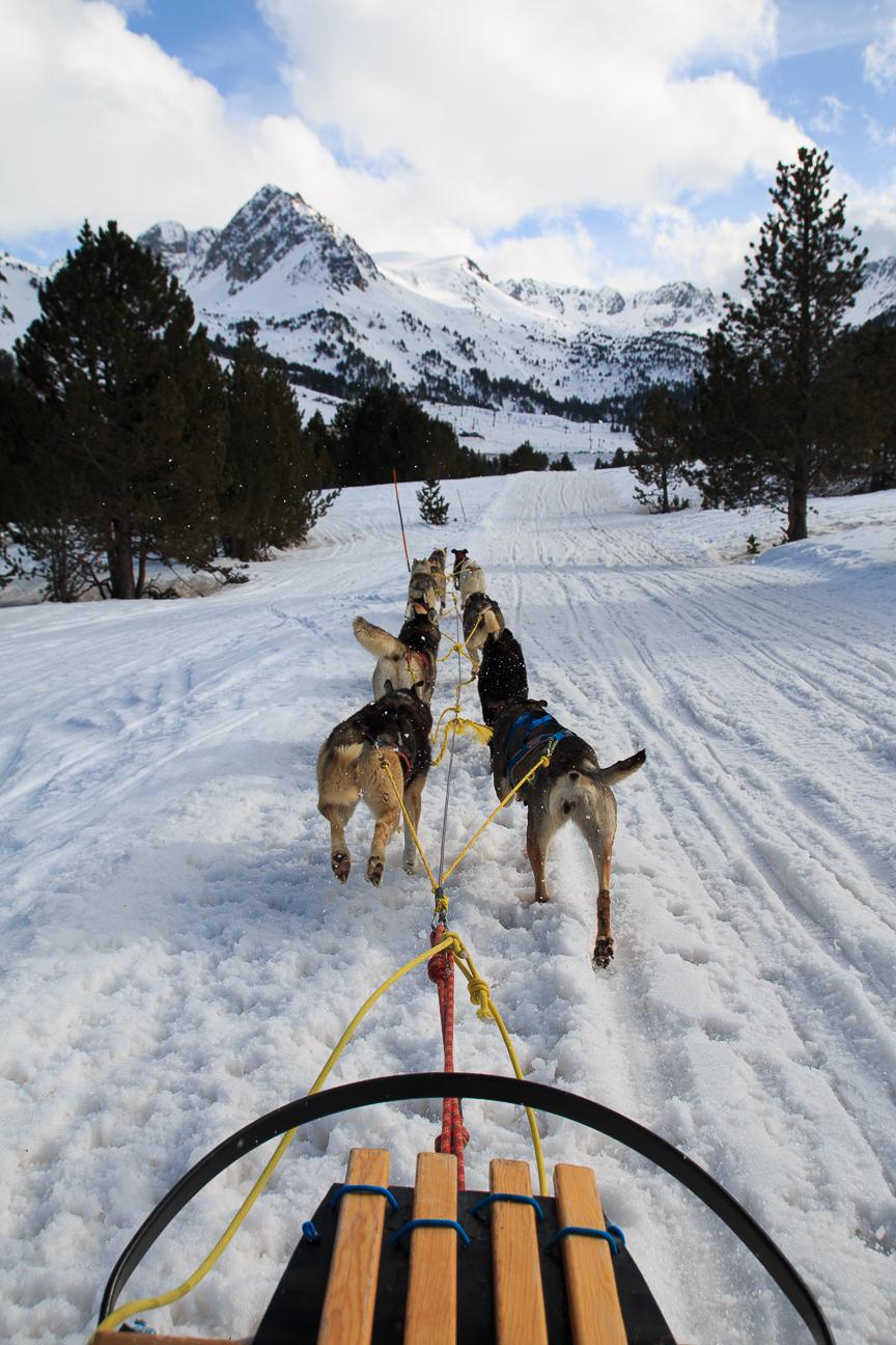 en trineo por Andorra