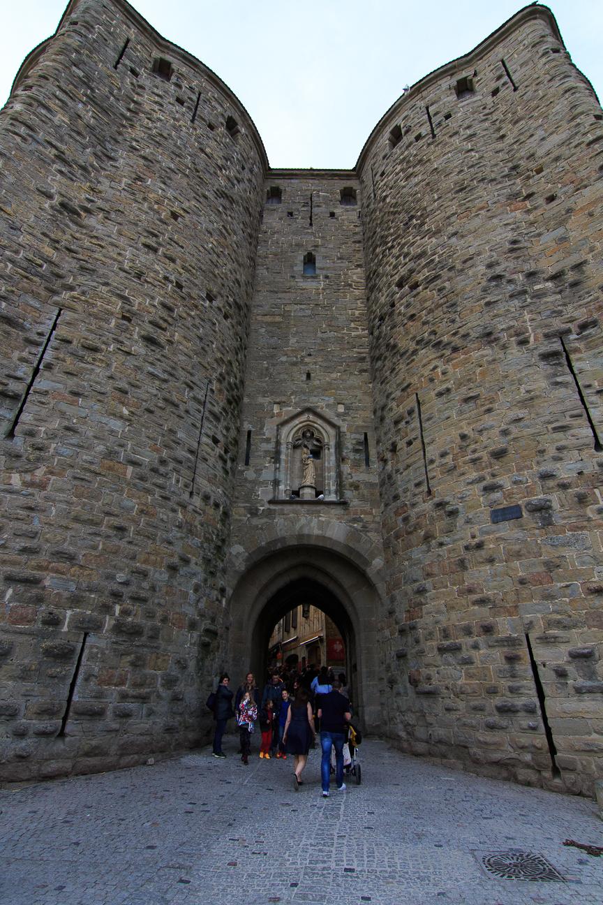 Entrada ciudad amurallada Carcassonne